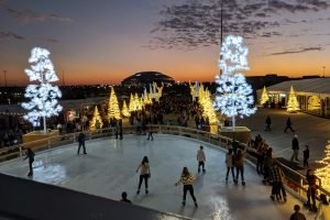 enchant christmas skating pond